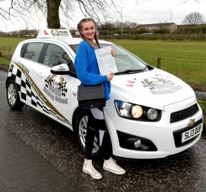 Megan - passed with 1st Pass Driving School Renfrewshire