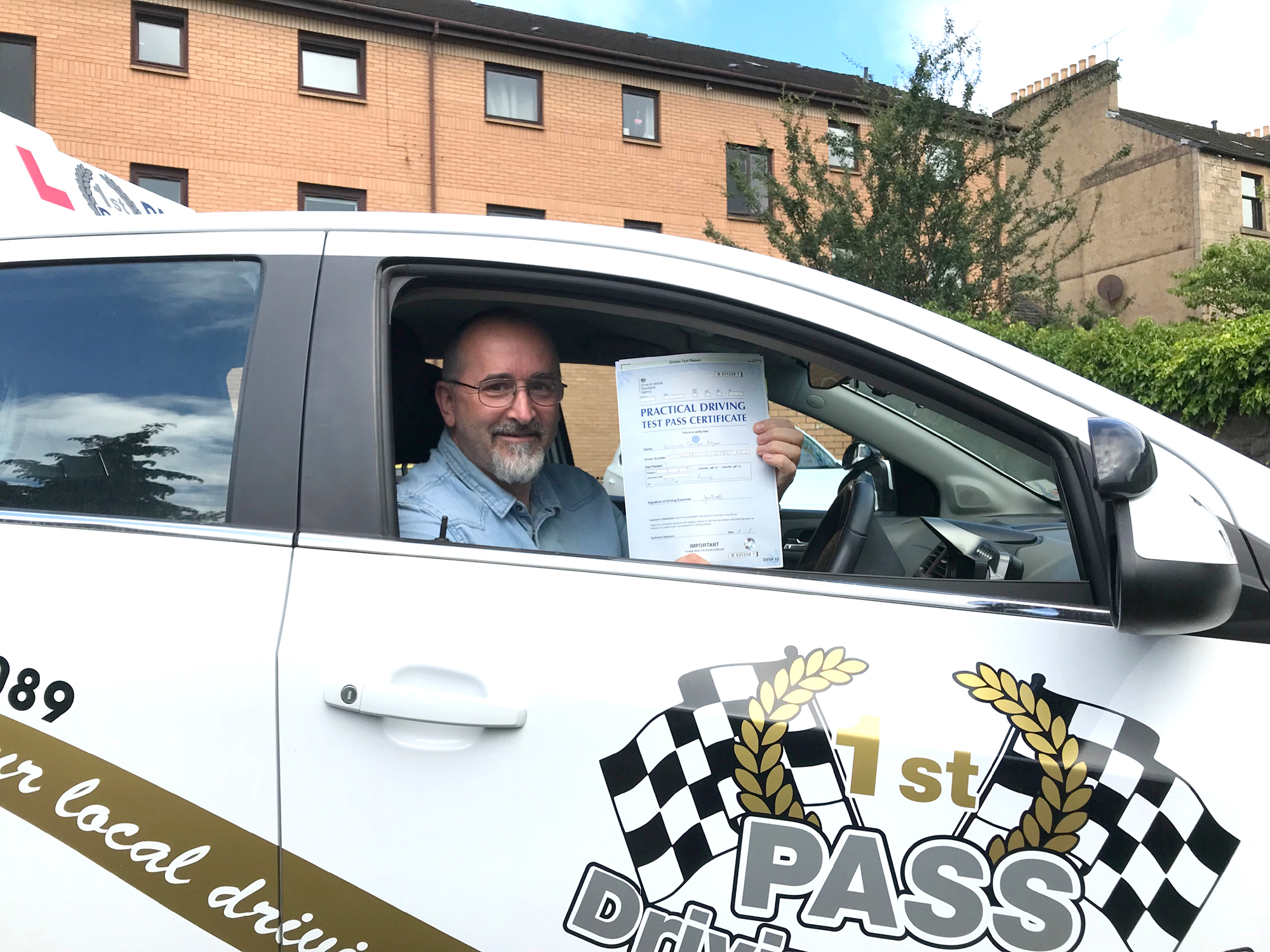 Will - took driving lessons with 1st Pass Driving School – Renfrewshire's Automatic Driving School