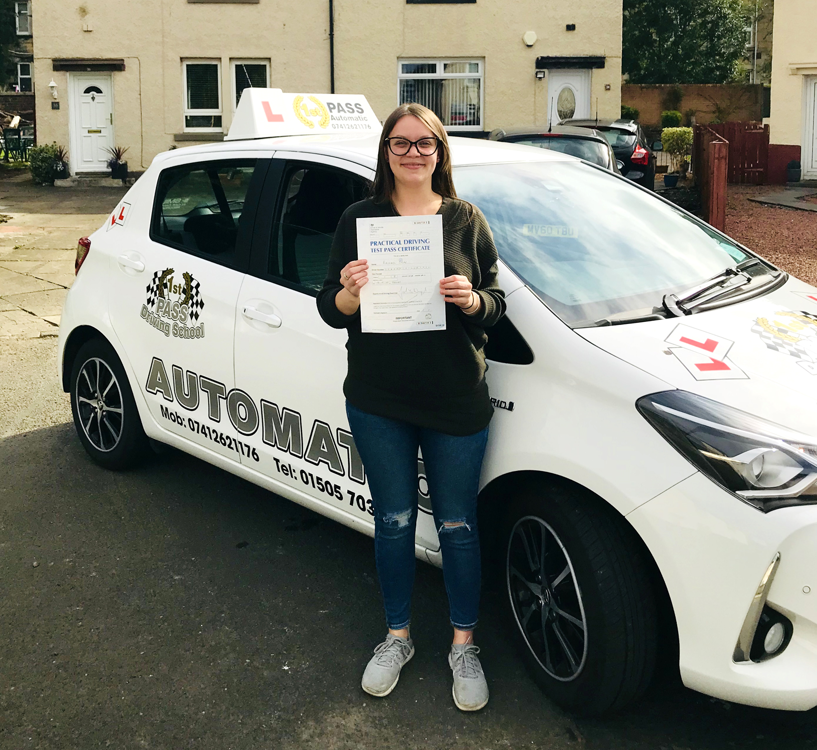 Rachael - took driving lessons with 1st Pass Driving School – Renfrewshire's Automatic Driving School