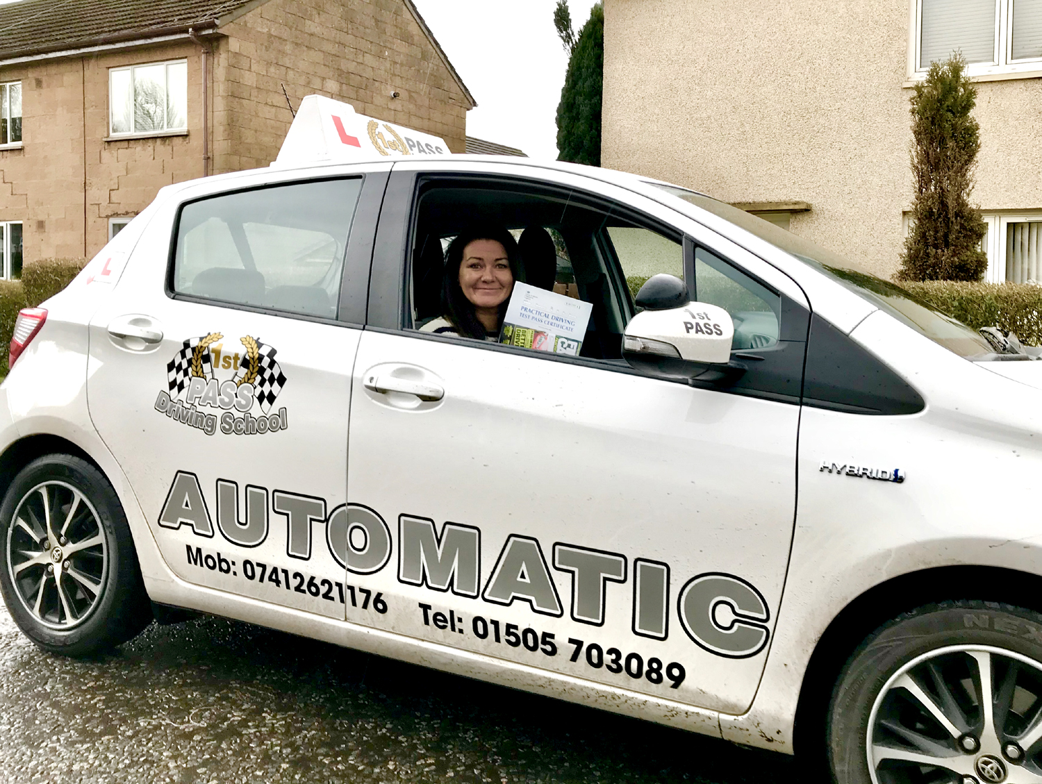 Claire - passed 1st attempt at Paisley Test Centre