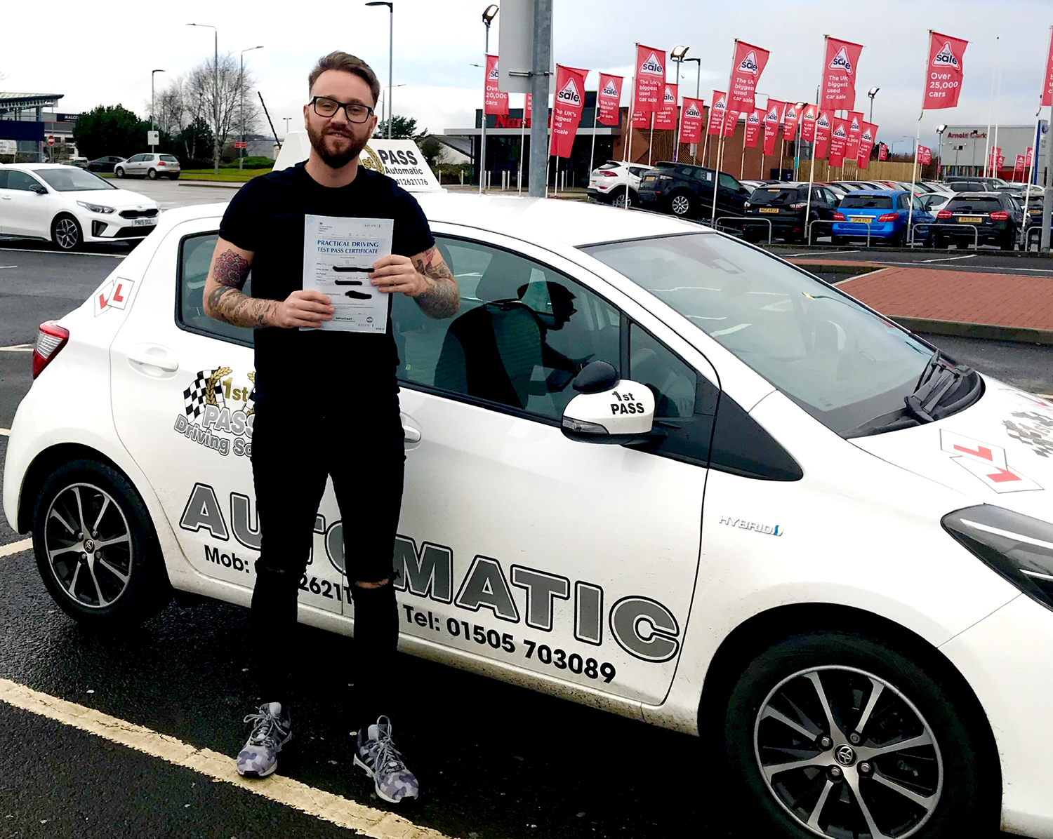 Ryan - passed 1st attempt at Paisley Test Centre