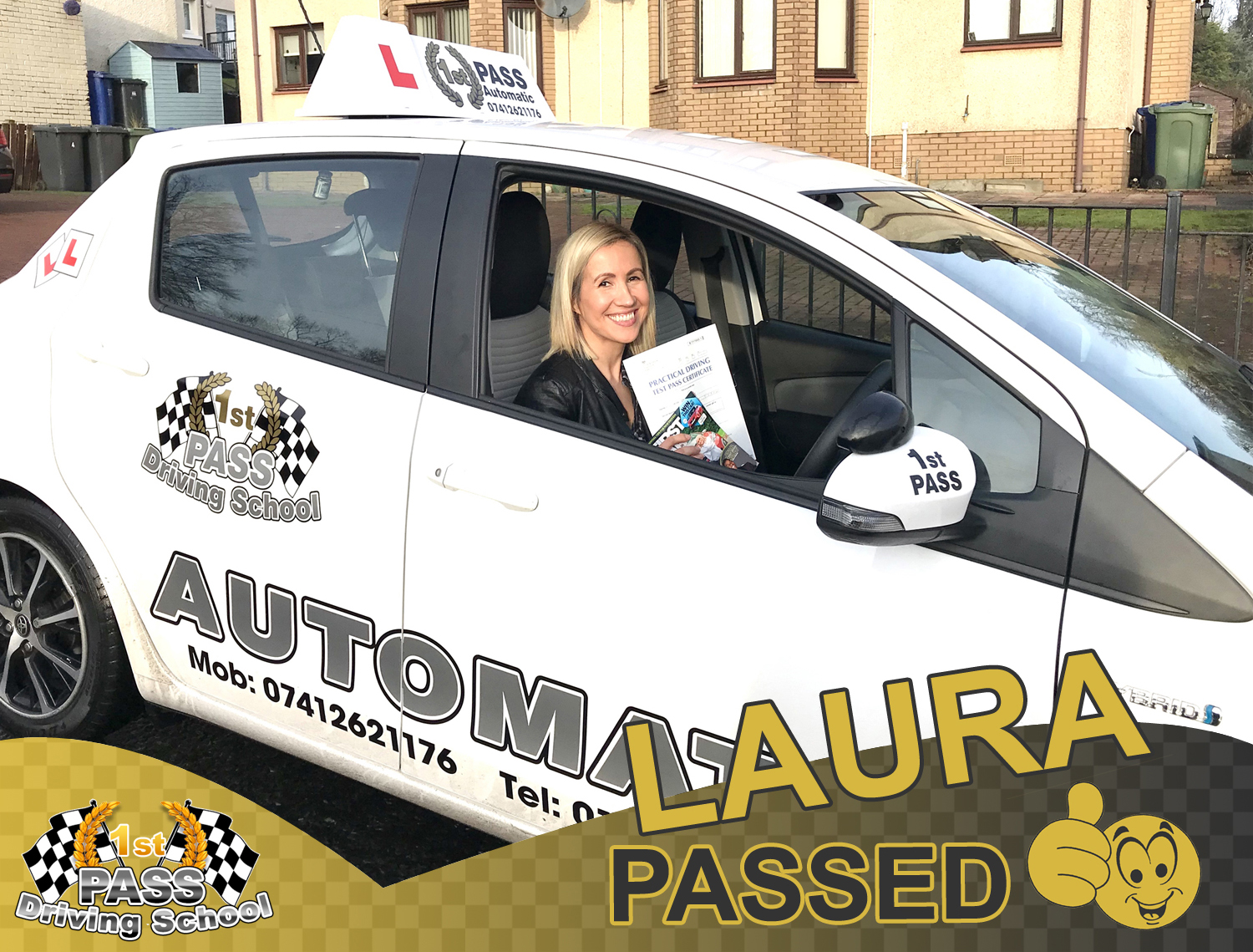 Laura - took driving lessons with 1st Pass Driving School – Renfrewshire's Automatic Driving School
