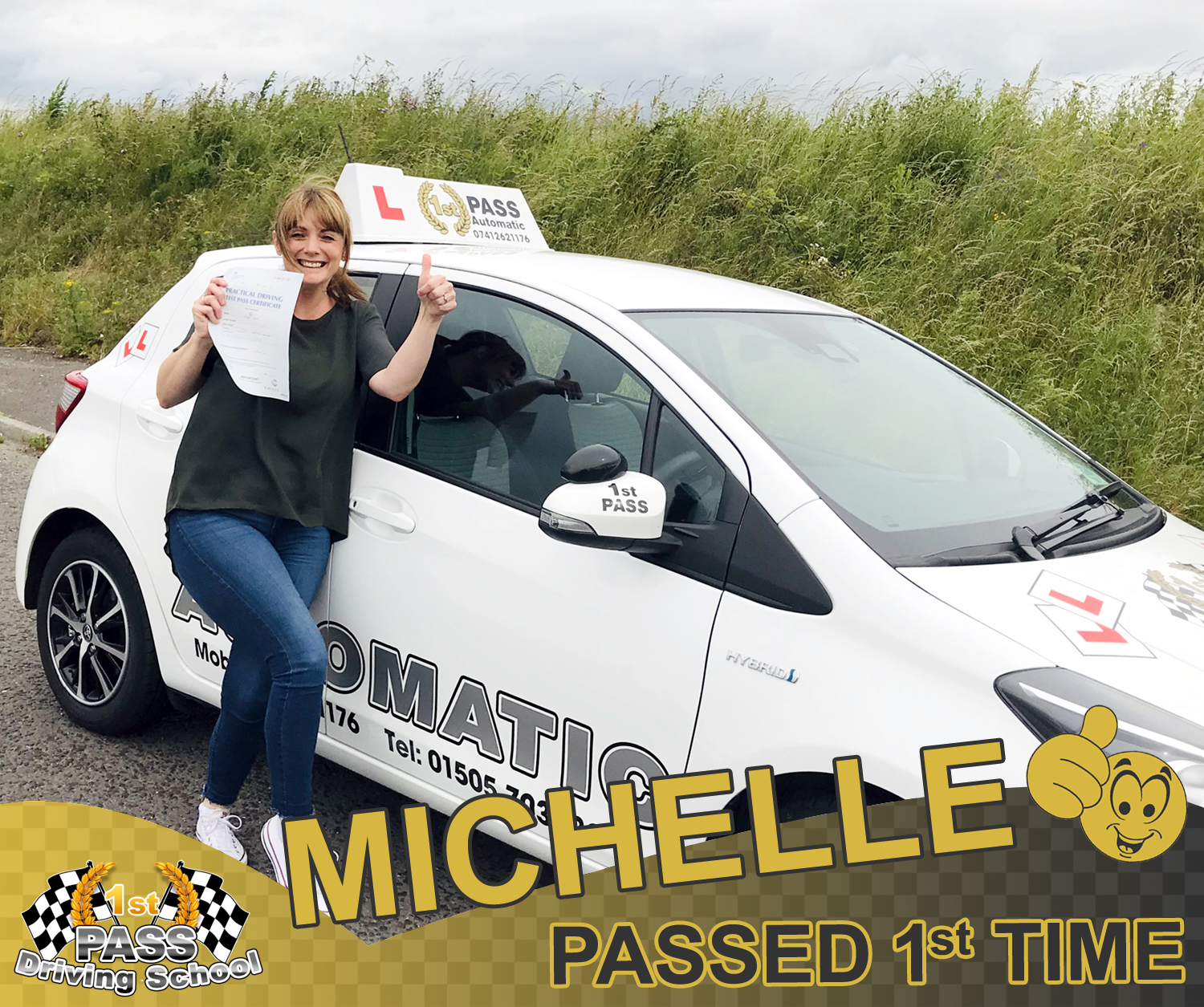 Michelle - took driving lessons with 1st Pass Driving School – Renfrewshire's Automatic Driving School