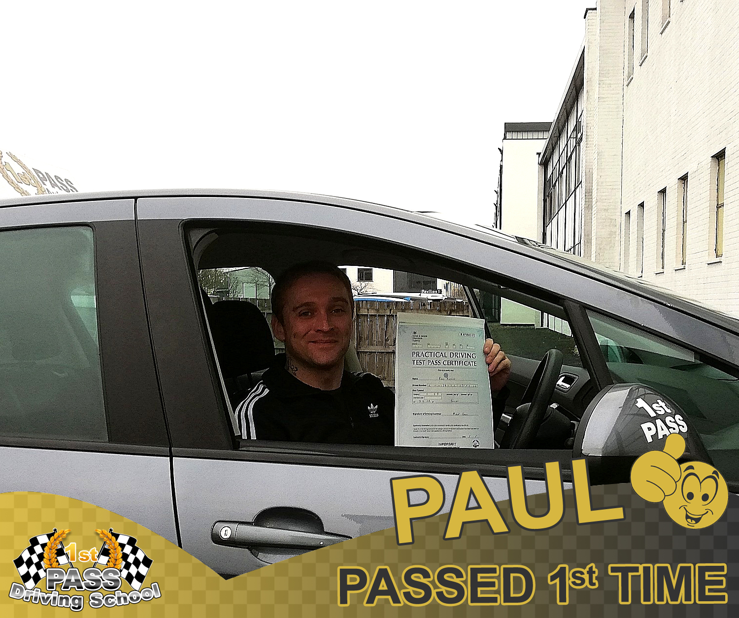 Paul took driving lessons with 1st Pass Driving School – Automatic & Manual Driving Lessons