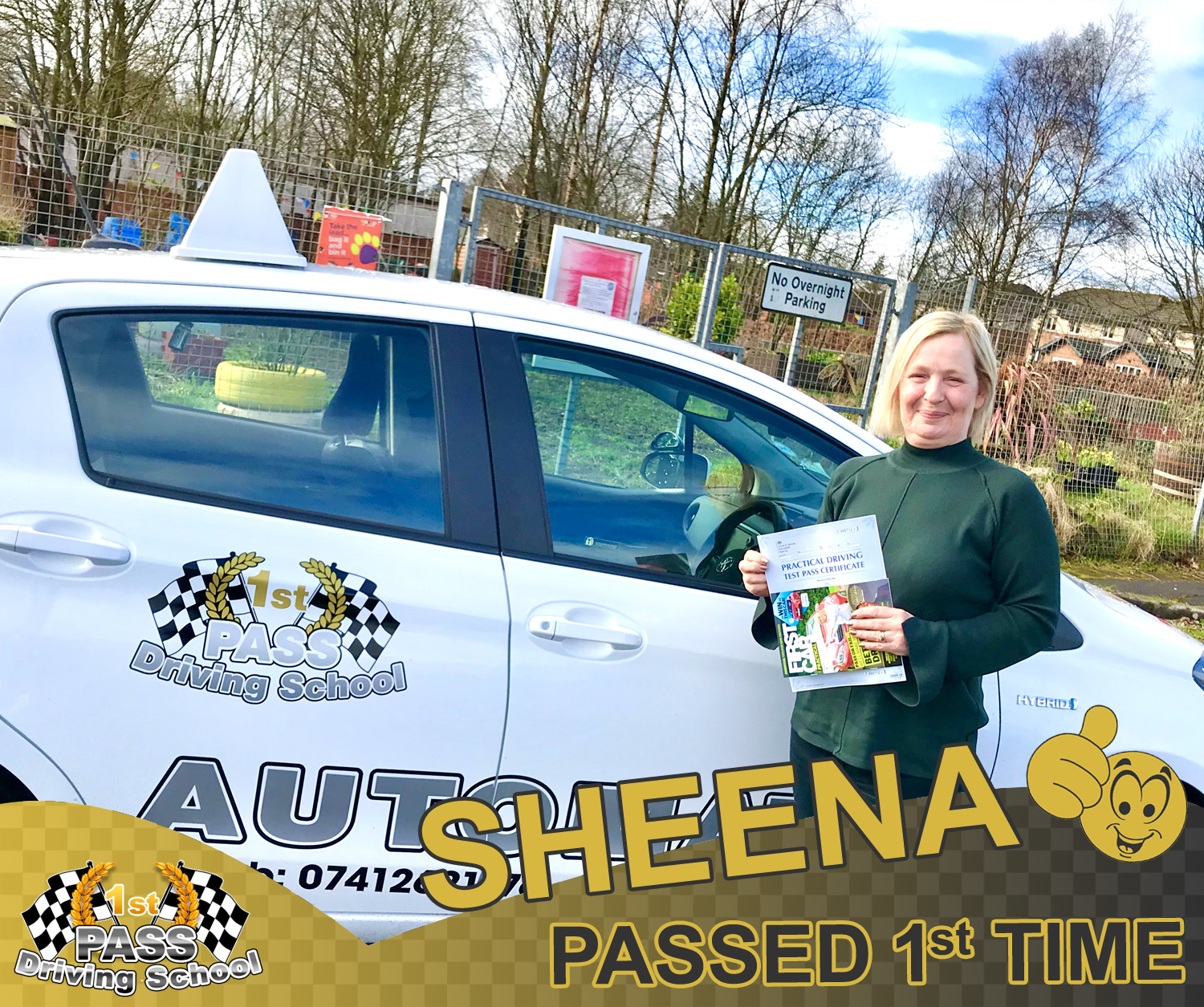 Sheena - passed with 1st Pass Driving School