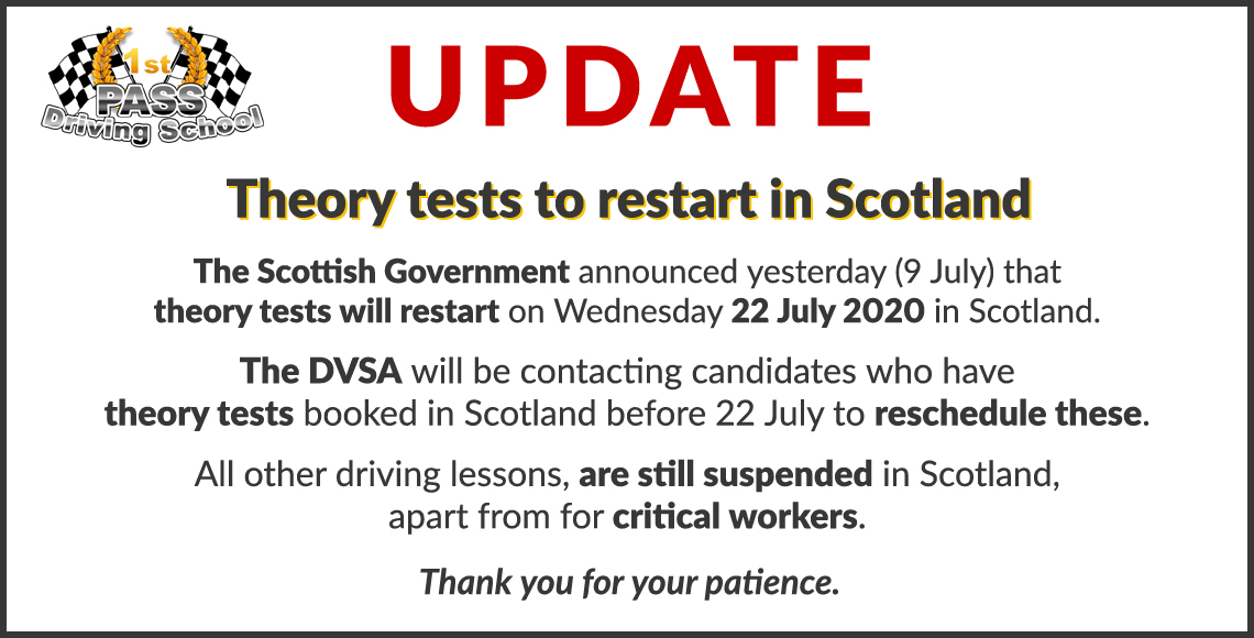 Automatic Driving School Renfrewshire - Update