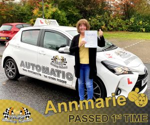 Annmarie Passed with 1st Pass Driving School Renfrewshire