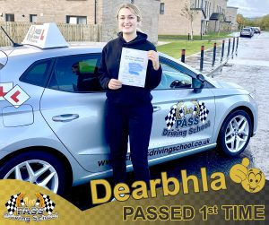 Dearbhla Passed with 1st Pass Driving School Renfrewshire