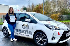 Shanna - passed with 1st Pass Driving School Johnstone, Paisley, Renfrew