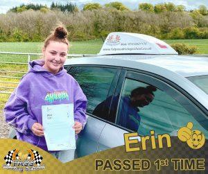Erin Passed with 1st Pass Driving School Renfrewshire