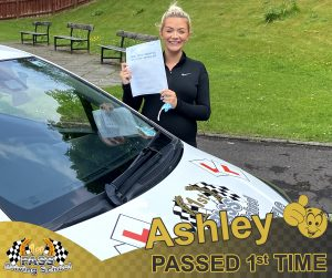 Ashley Passed with 1st Pass Driving School Renfrewshire