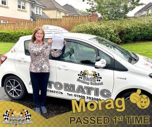 Morag Passed with 1st Pass Driving School Renfrewshire